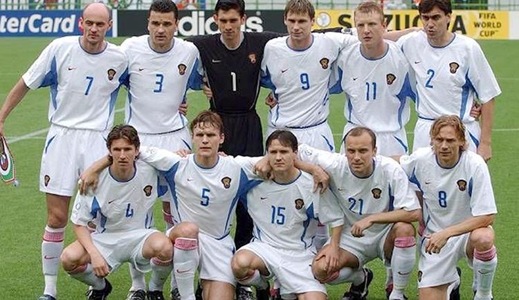 Руслан Нигматуллин в составе сборной России на ЧМ-2002