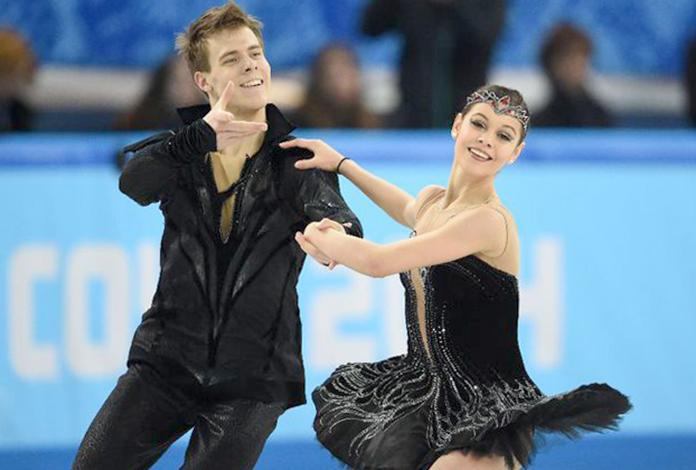 Елена Ильиных с Никитой Кацалаповым на Олимпийском турнире в Сочи (2014)
