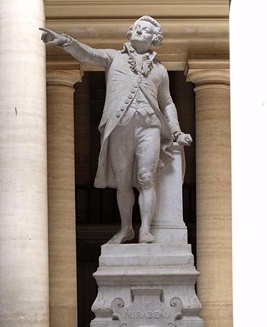 Статуя Оноре де Мирабо во дворце правосудия в Экс-ан-Провансе