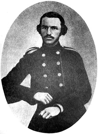 Петр Лесгафт во время учебы в Медико-хирургической академии (1860)