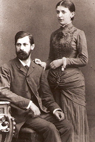 С женой Мартой в молодости