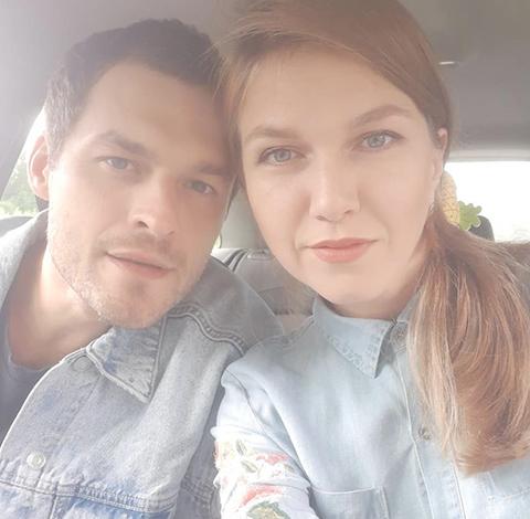 С женой Валерией