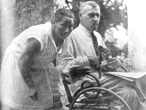Со второй женой Верой Дмитриевной (Ялта, 1944)