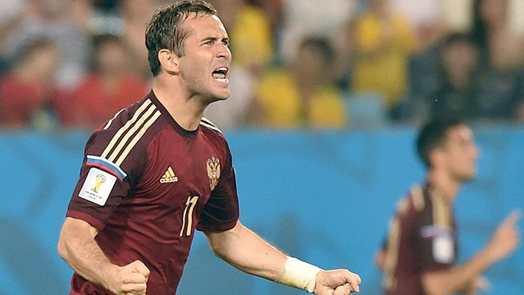 Александр Кержаков на Чемпионате мира по футболу 2014