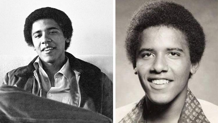 Барака Обама в молодости