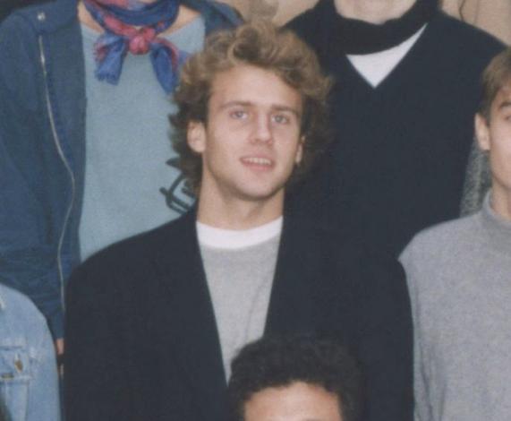 Эммануэль Макрон в молодости