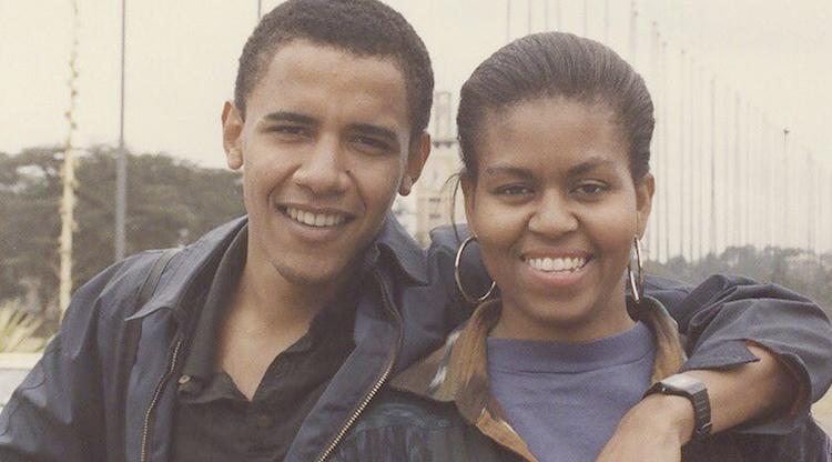 С женой Мишель в молодости