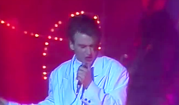 Сергей Васюта на сцене в молодости