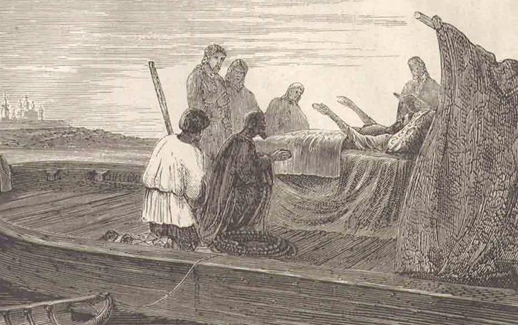 Смерть патриарха Никона. Гравюра около 1870-ых г.