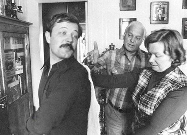 С мужем Станиславом и сыном Андреем