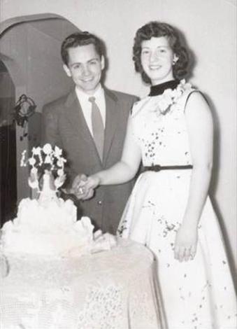 С первой женой Розой Уиллис (январь 1955)