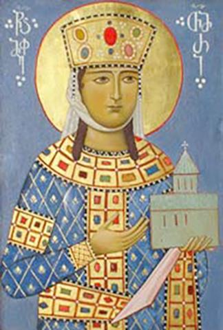 Царица Тамара на иконе
