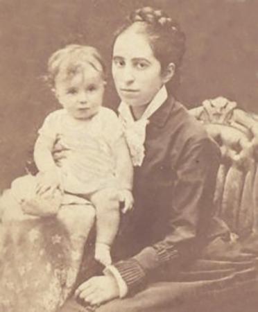 Семен Франк с мамой (1887)