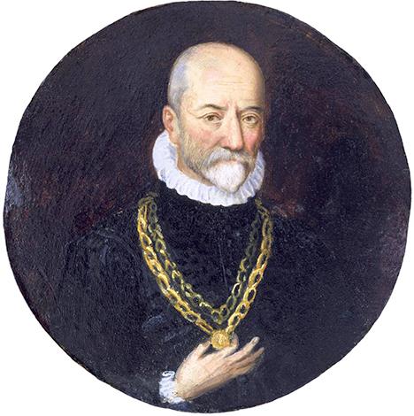 Мишель де Монтень на портрете неизвестного художника (около 1590 г.)