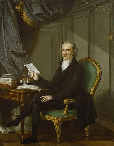 Томас Пейн. Картина маслом Лорана Дабоша, около 1791 г.