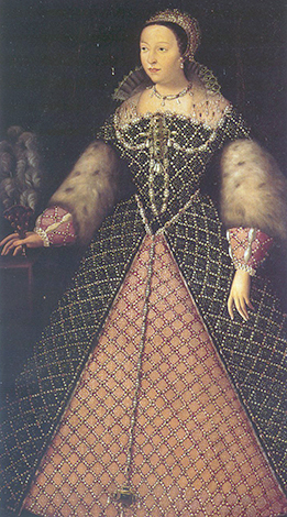 Королева Франции Екатерина Медичи. Портрет 1550-ых