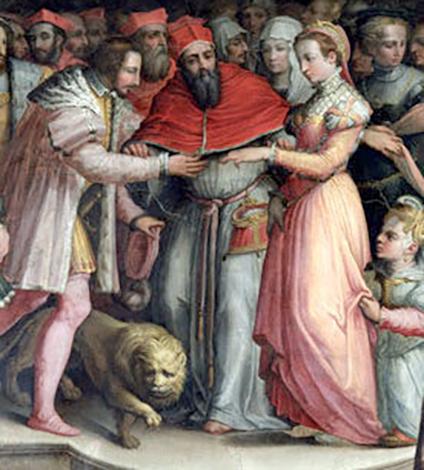 Брак Екатерины и Генриха, нарисованный через 17 лет после события