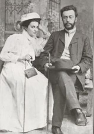 С женой Татьяной Сергеевной (1908)