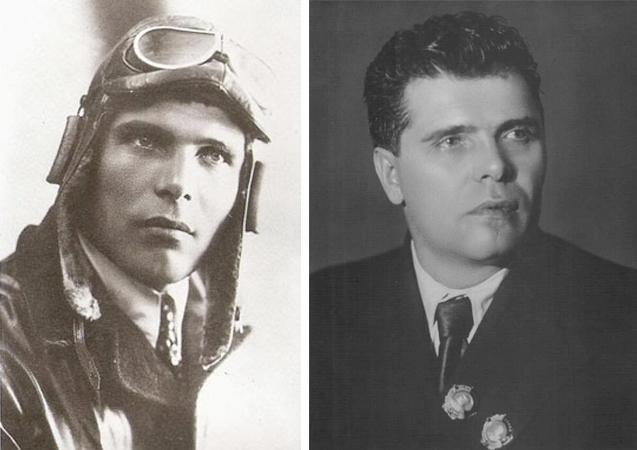 Михаил Водопьянов в молодости